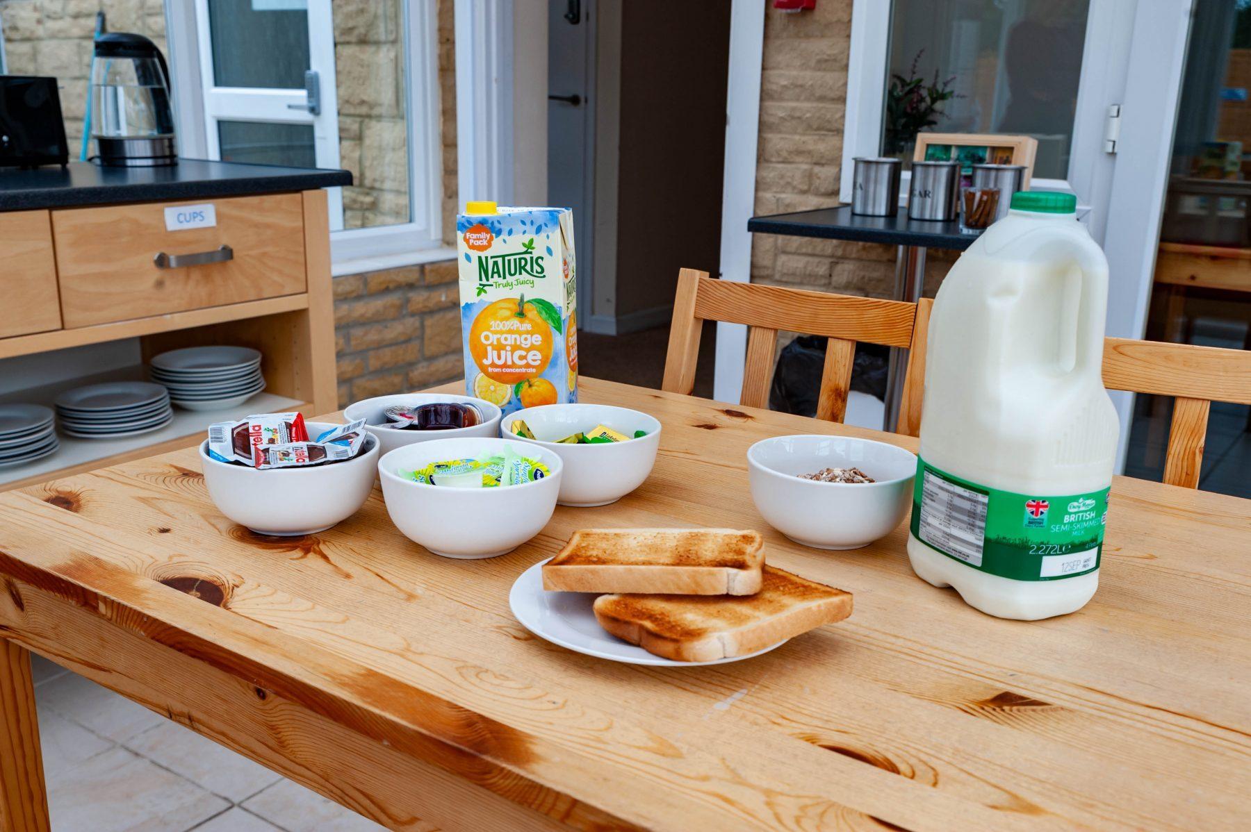 Self service breakfast